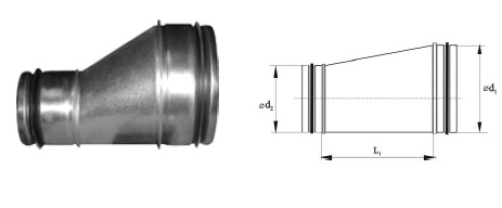Reducers RLU Asymmetric with sealing rubber